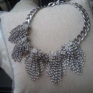 NWT! GORGEOUS Stunning RHINESTONE  Chain NECKLACE